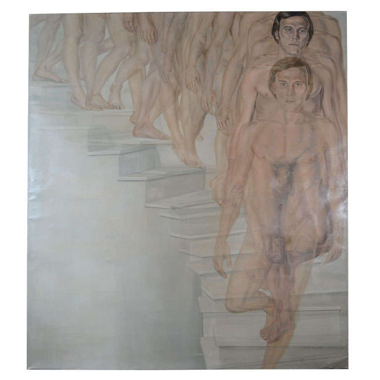 Nude Descending a Staircase Painting by Patti Hansen