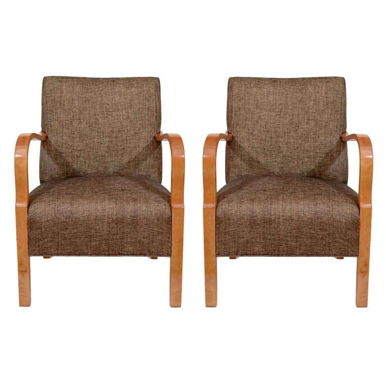 Bentwood Art Deco Club Chairs