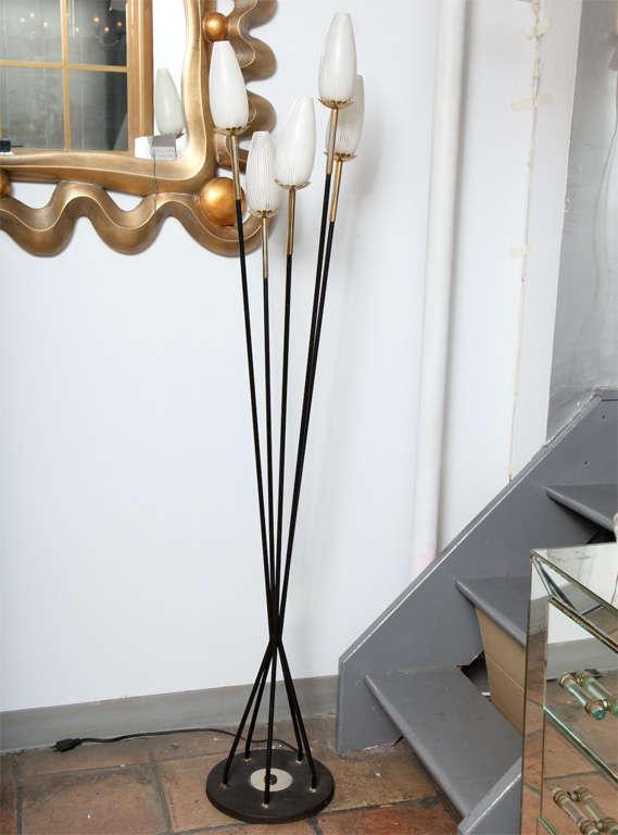 this vintage stilenovo five light tulip stem floor lamp is no longer. Black Bedroom Furniture Sets. Home Design Ideas
