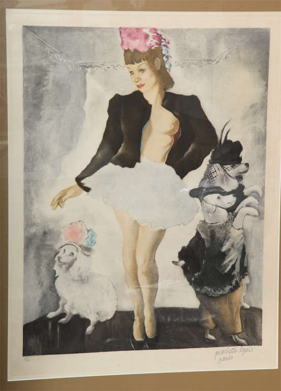 Silver Framed Signed Mariette Lydis Lithograph 2