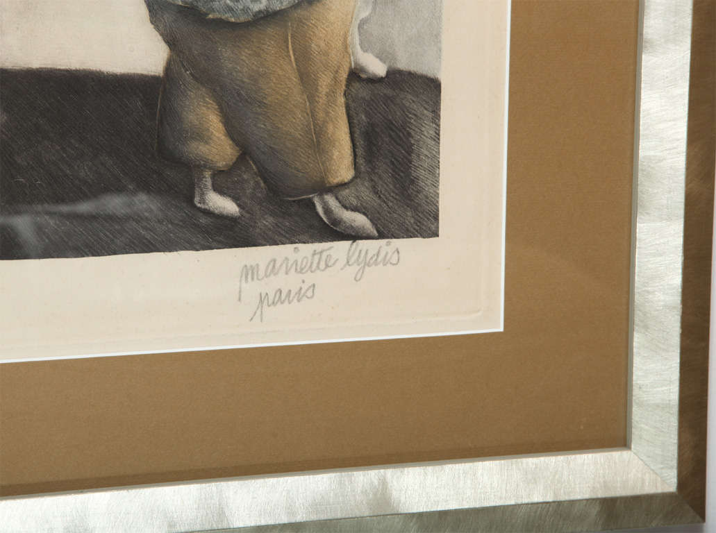 Silver Framed Signed Mariette Lydis Lithograph 6