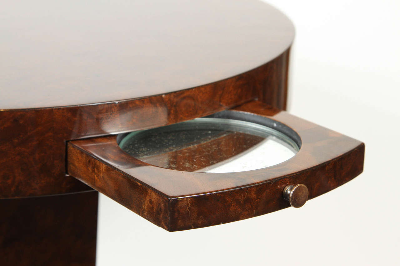 Veneer French Burled Walnut Side Table For Sale