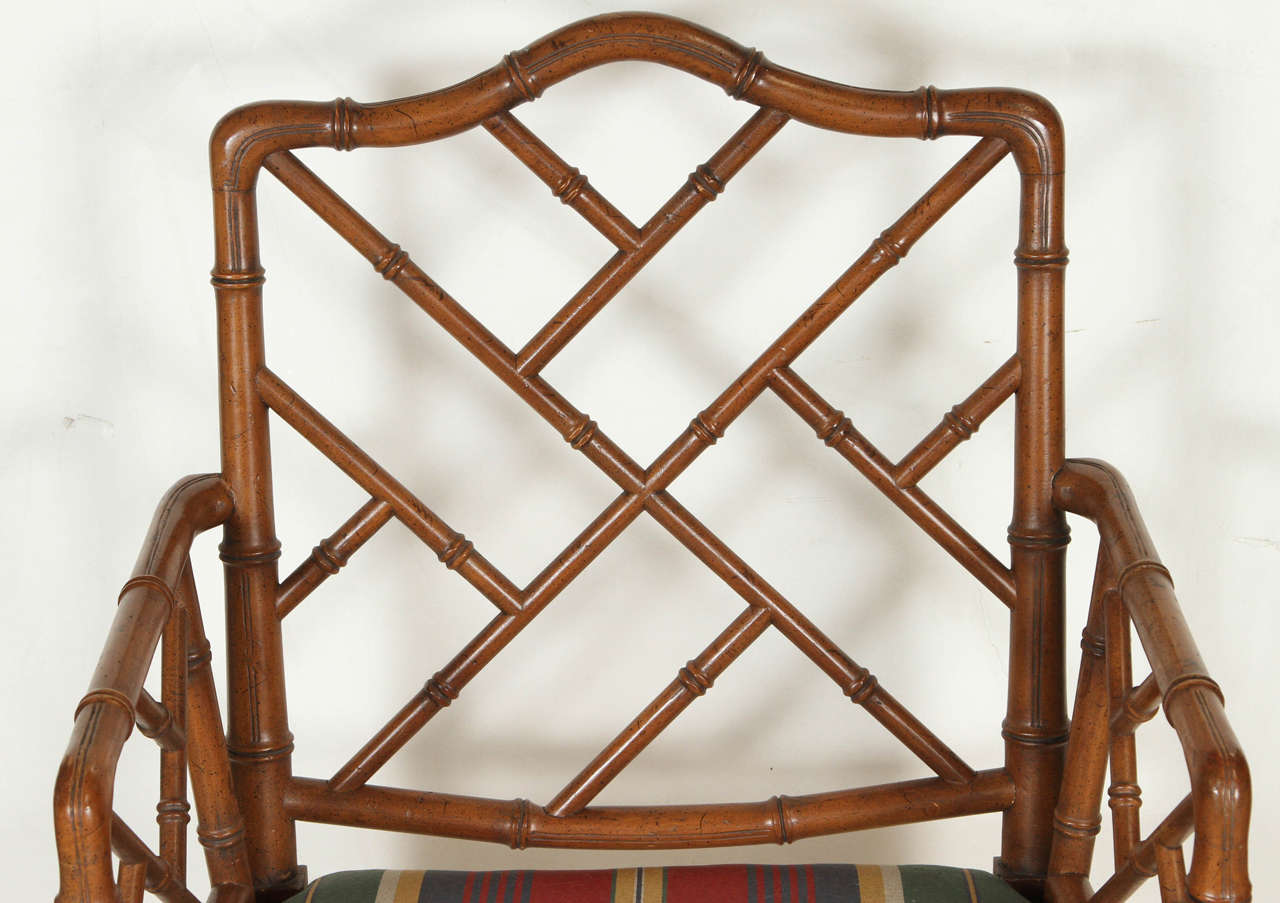 Chippendale Faux Bamboo Chairs At 1stdibs