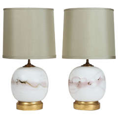 Pair of Danish Globe Lamps