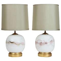 Pair of Danish Globe Lamps