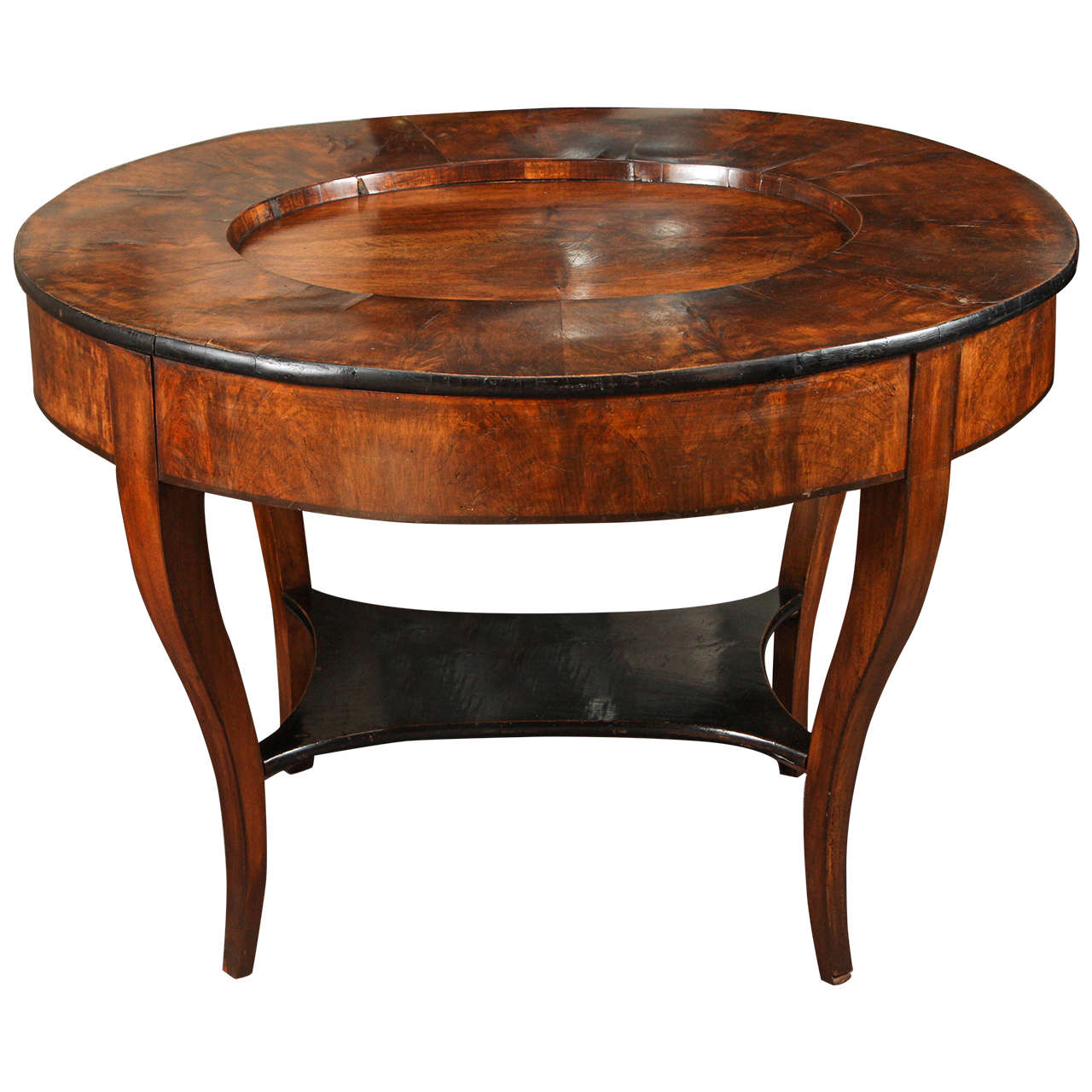 Early 20th Century Georgian Tray Top Coffee Burl Wood Side or Coffee Table