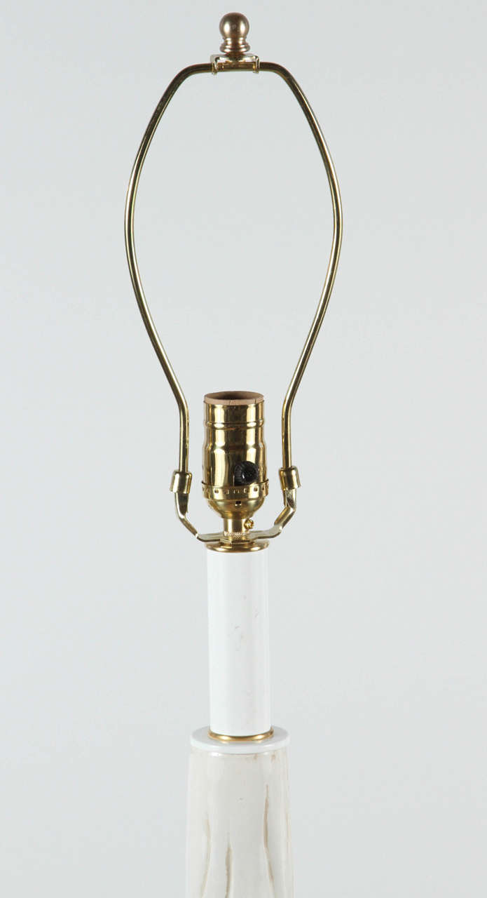 Mid-Century Ceramic Faux Bois Floor Lamp For Sale 1