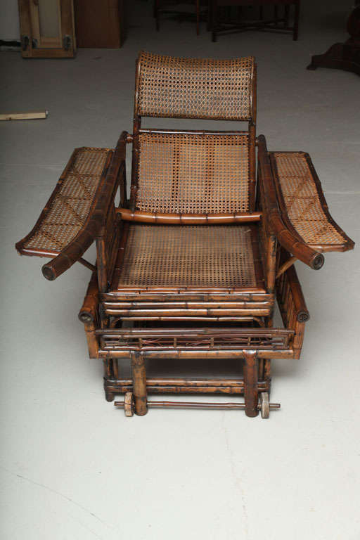 19th Century Chinese Export Bamboo chair lounge 3