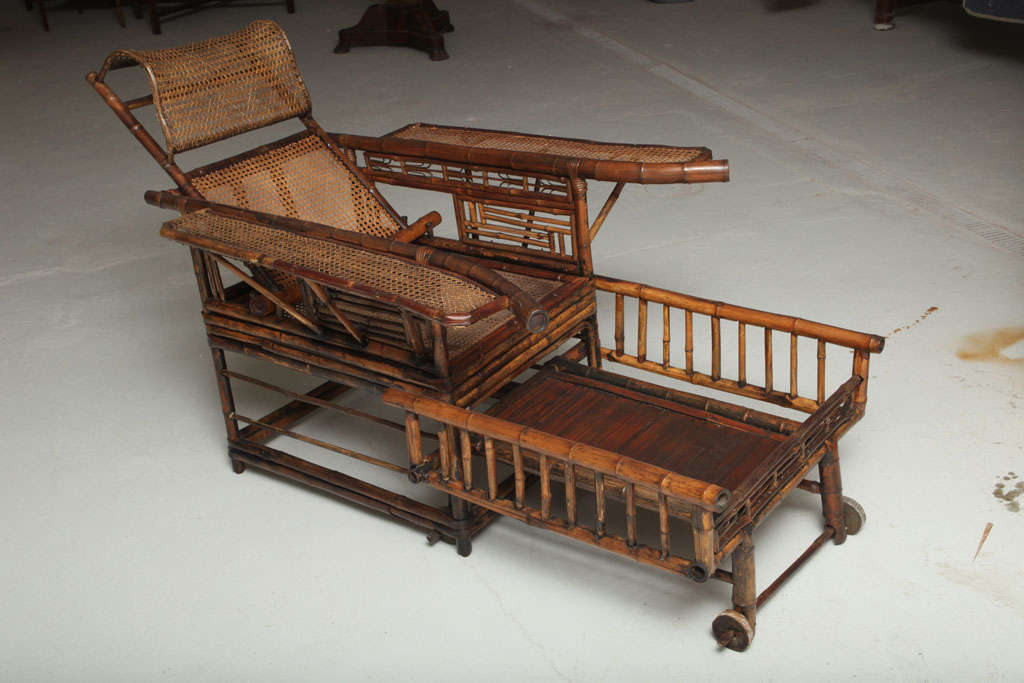19th Century Chinese Export Bamboo chair lounge 4