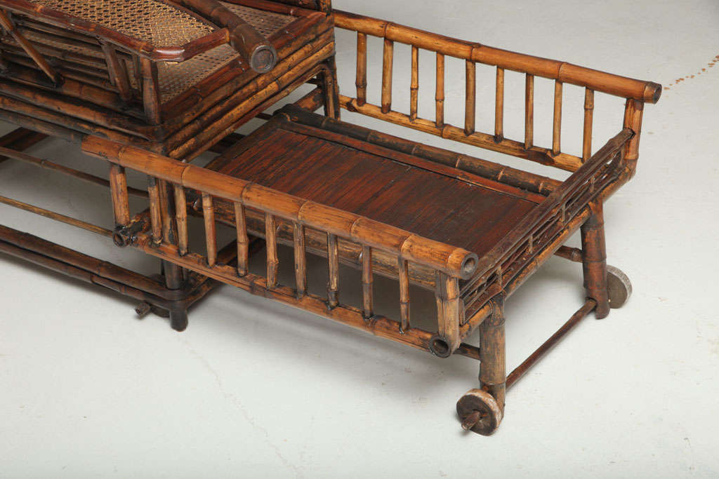 19th Century Chinese Export Bamboo chair lounge 5