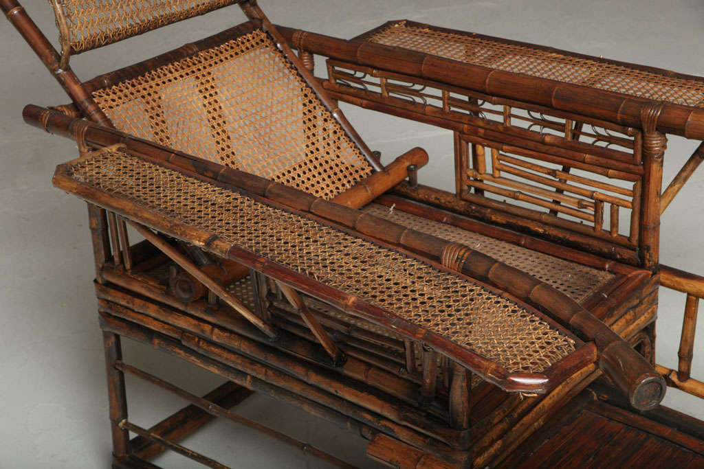 19th Century Chinese Export Bamboo chair lounge 6