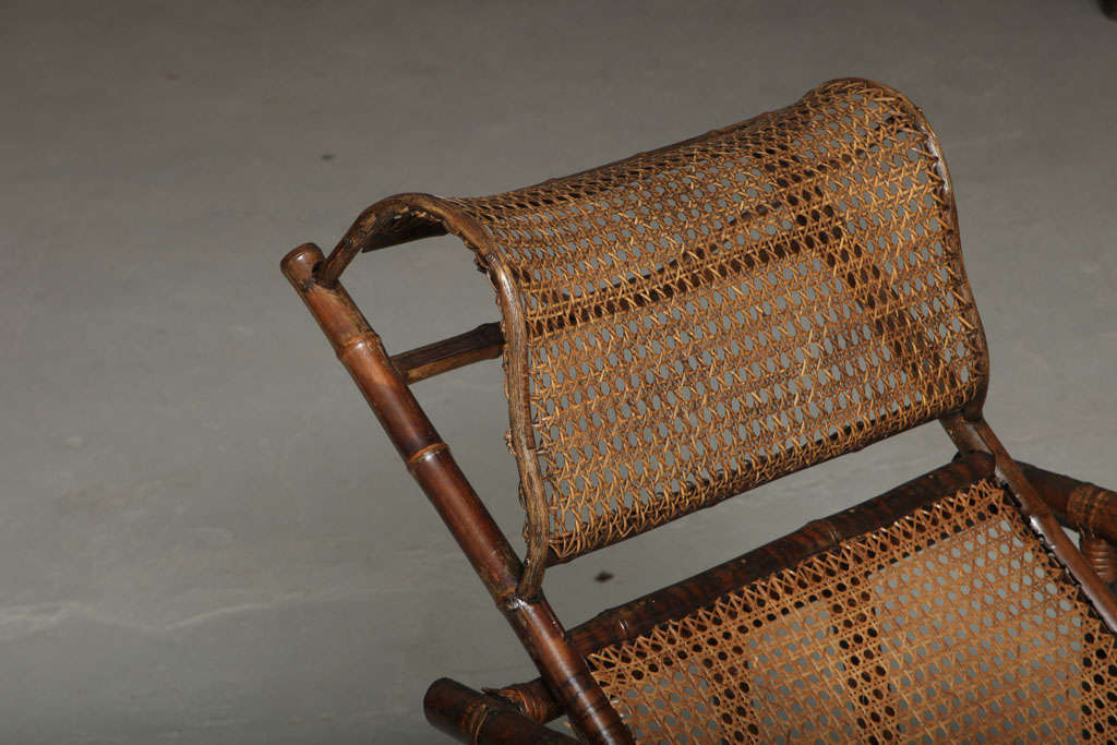 19th Century Chinese Export Bamboo chair lounge 7