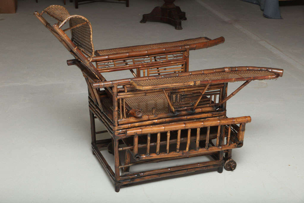 19th Century Chinese Export Bamboo chair lounge 9
