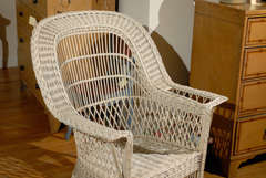 Bar Harbor Wicker Chair with Magazine Pocket image 3