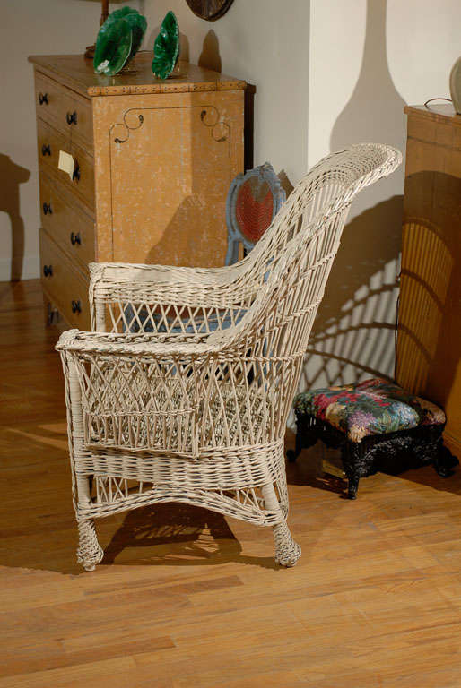 Bar Harbor Wicker Chair with Magazine Pocket 5