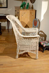 Bar Harbor Wicker Chair with Magazine Pocket image 7