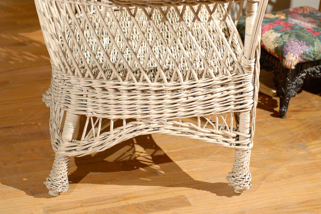 Bar Harbor Wicker Chair with Magazine Pocket 8