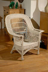 Bar Harbor Wicker Chair with Magazine Pocket image 2