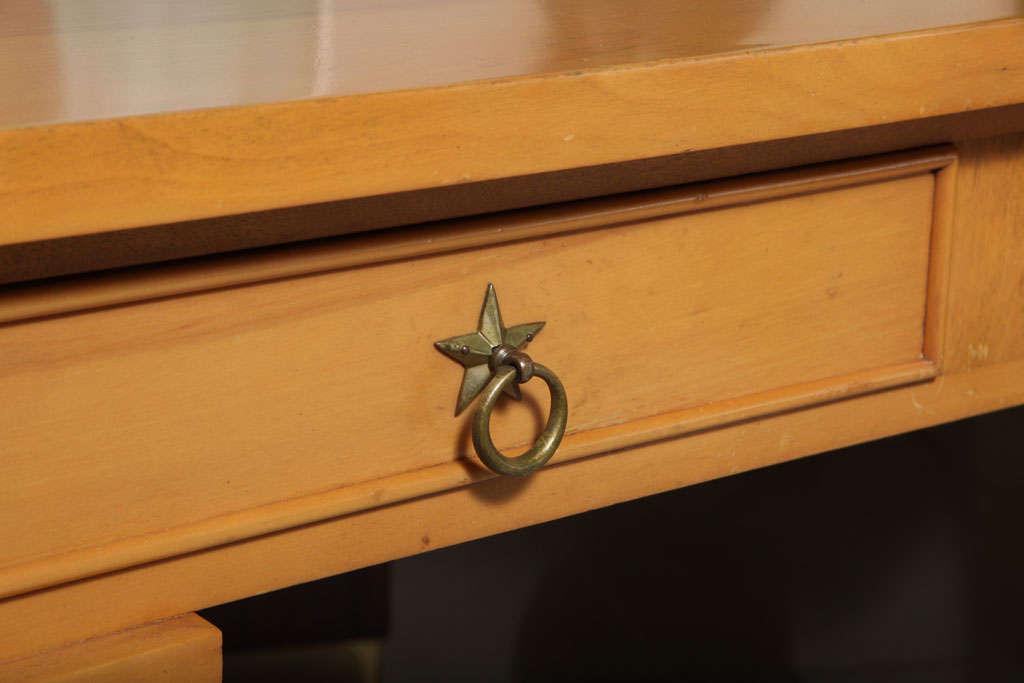 André Arbus Sycamore Desk, Writing Table, Bureau Plat For Sale 1