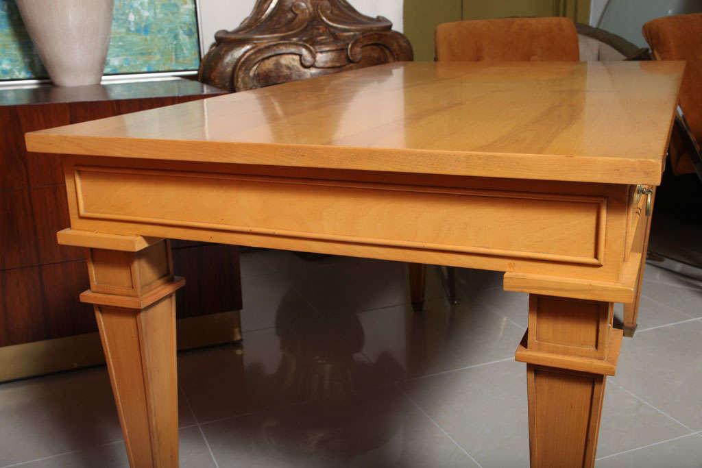 André Arbus Sycamore Desk, Writing Table, Bureau Plat For Sale 4