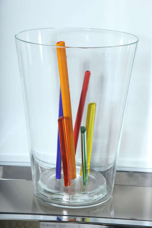 Attributed to Ettore Sottsass, Glass Centerpiece, Vase or Sculpture 3