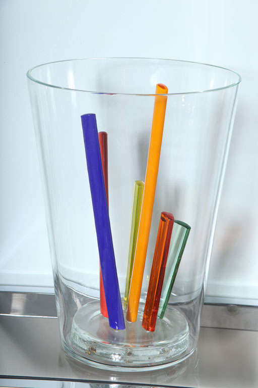 Attributed to Ettore Sottsass, Glass Centerpiece, Vase or Sculpture 4