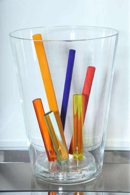 Attributed to Ettore Sottsass, Glass Centerpiece, Vase or Sculpture 2