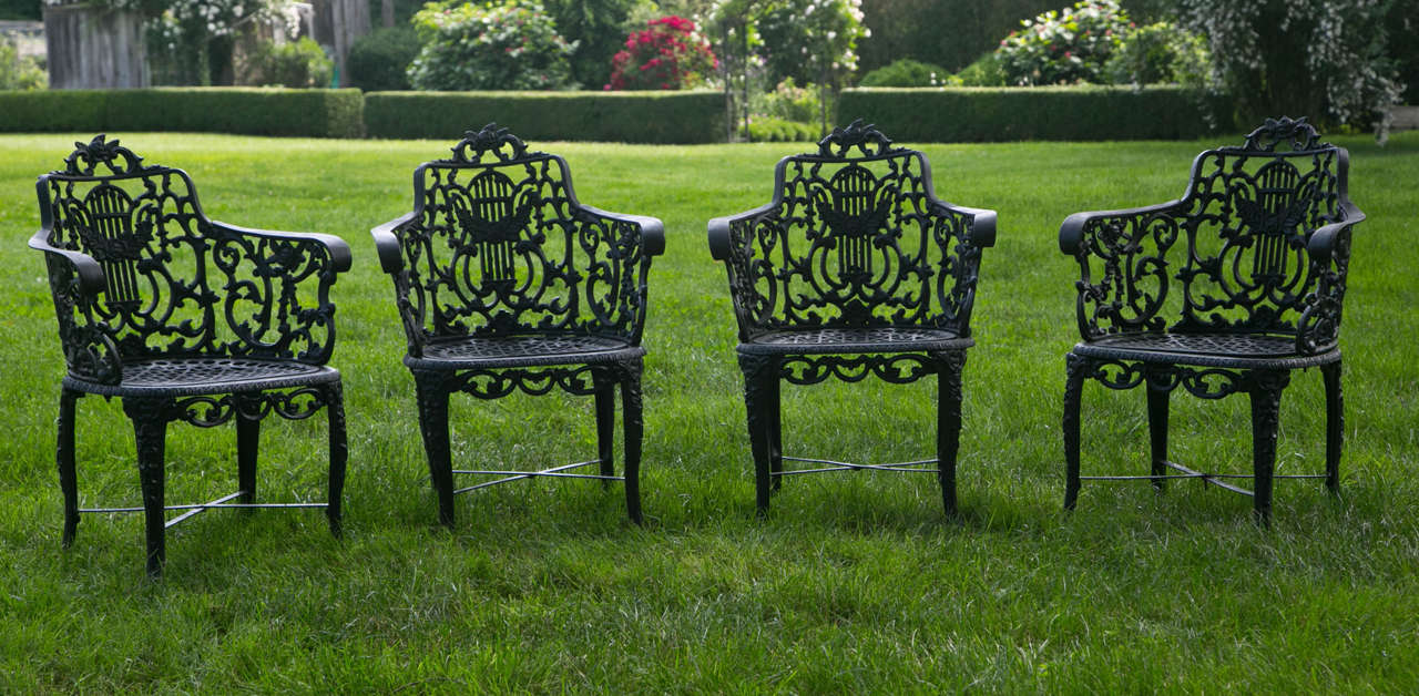 Armchairs with Lyre-Backs 2