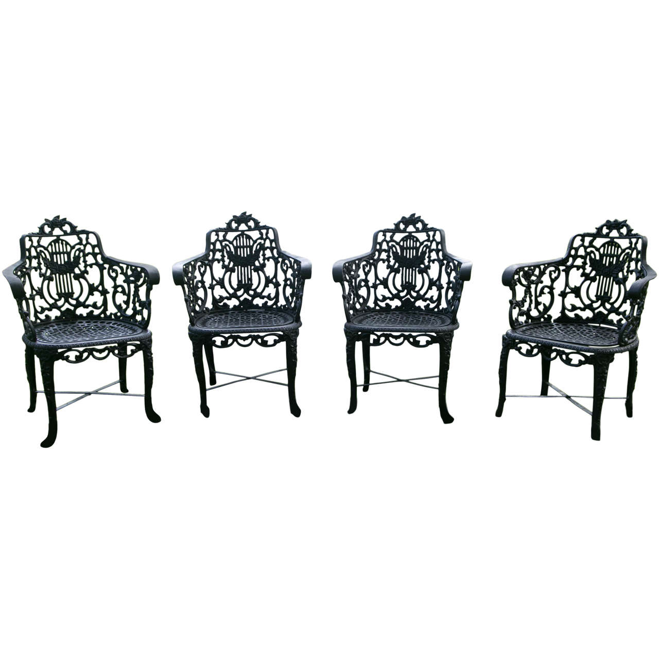 Armchairs with Lyre-Backs 1