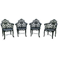 Armchairs with Lyre-Backs