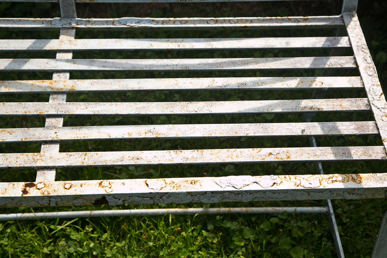 Graphic English Garden Seat In Good Condition In Katonah, NY