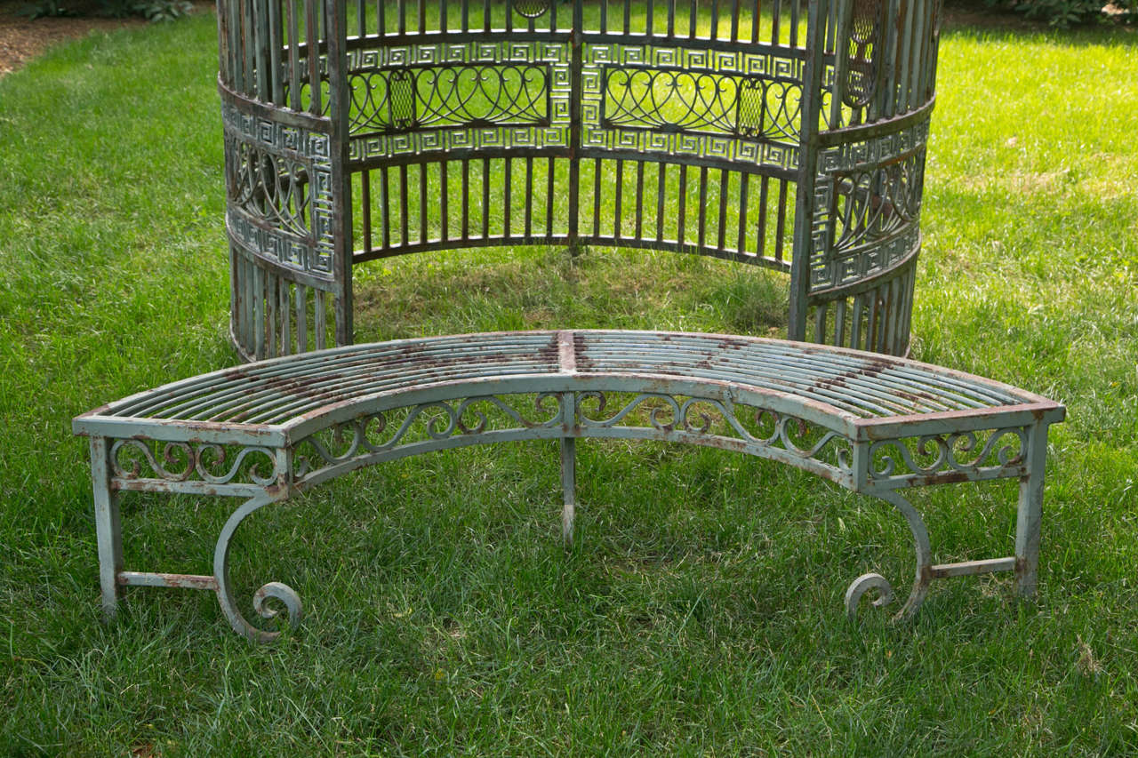 Gazebo with Copper Roof and Wrought-Iron Elements For Sale 3
