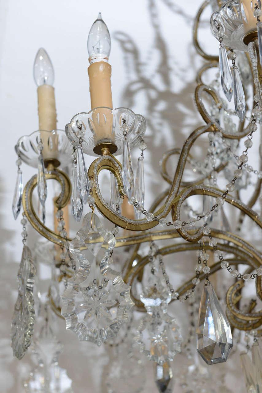Vintage Crystal Chandelier Image 4