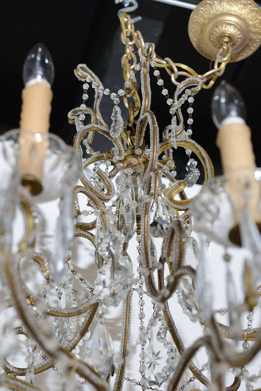 Vintage Crystal Chandelier Image 8