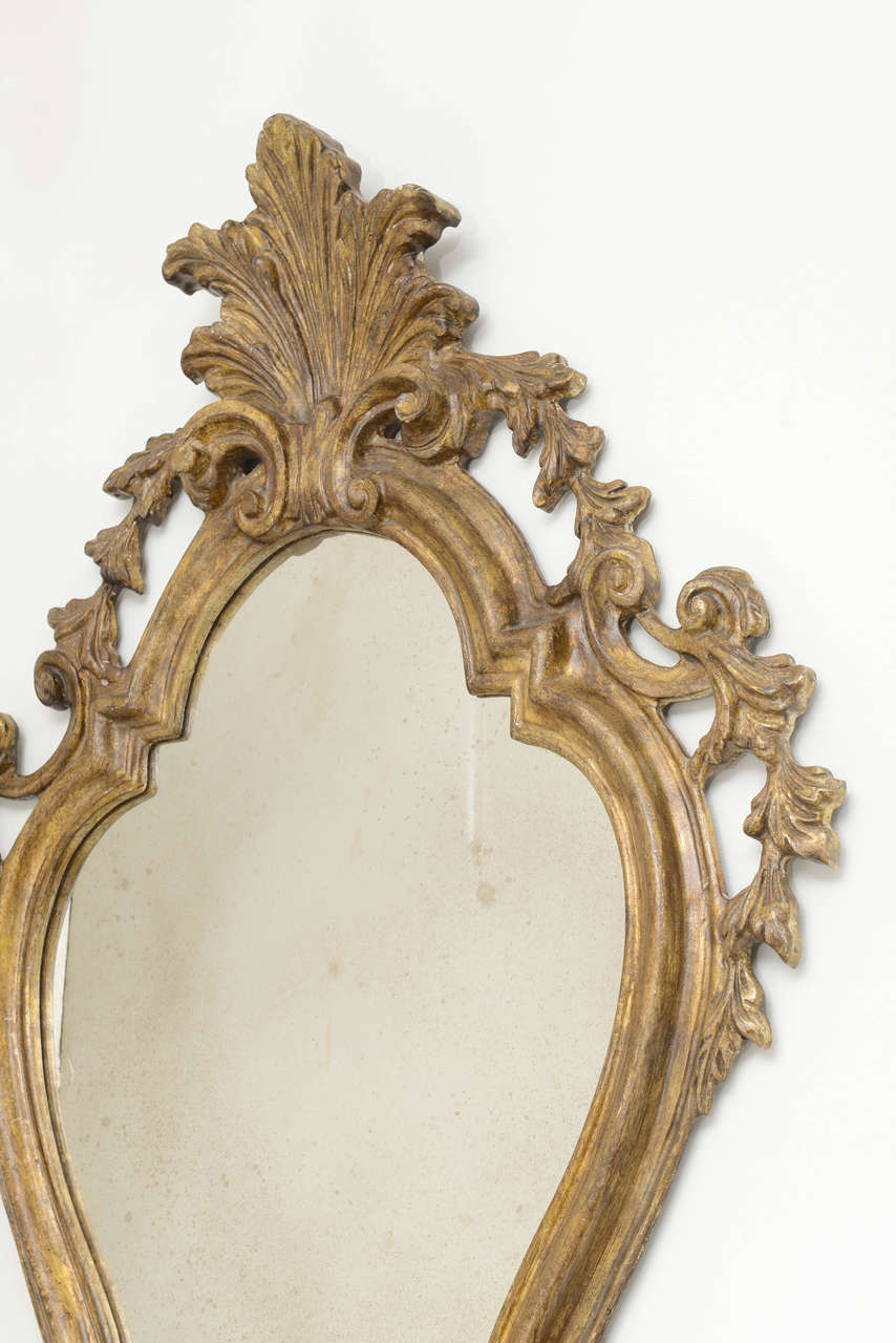 Venetian Wall Sconces : Pair of Venetian Mirrored Wall Sconses at 1stdibs