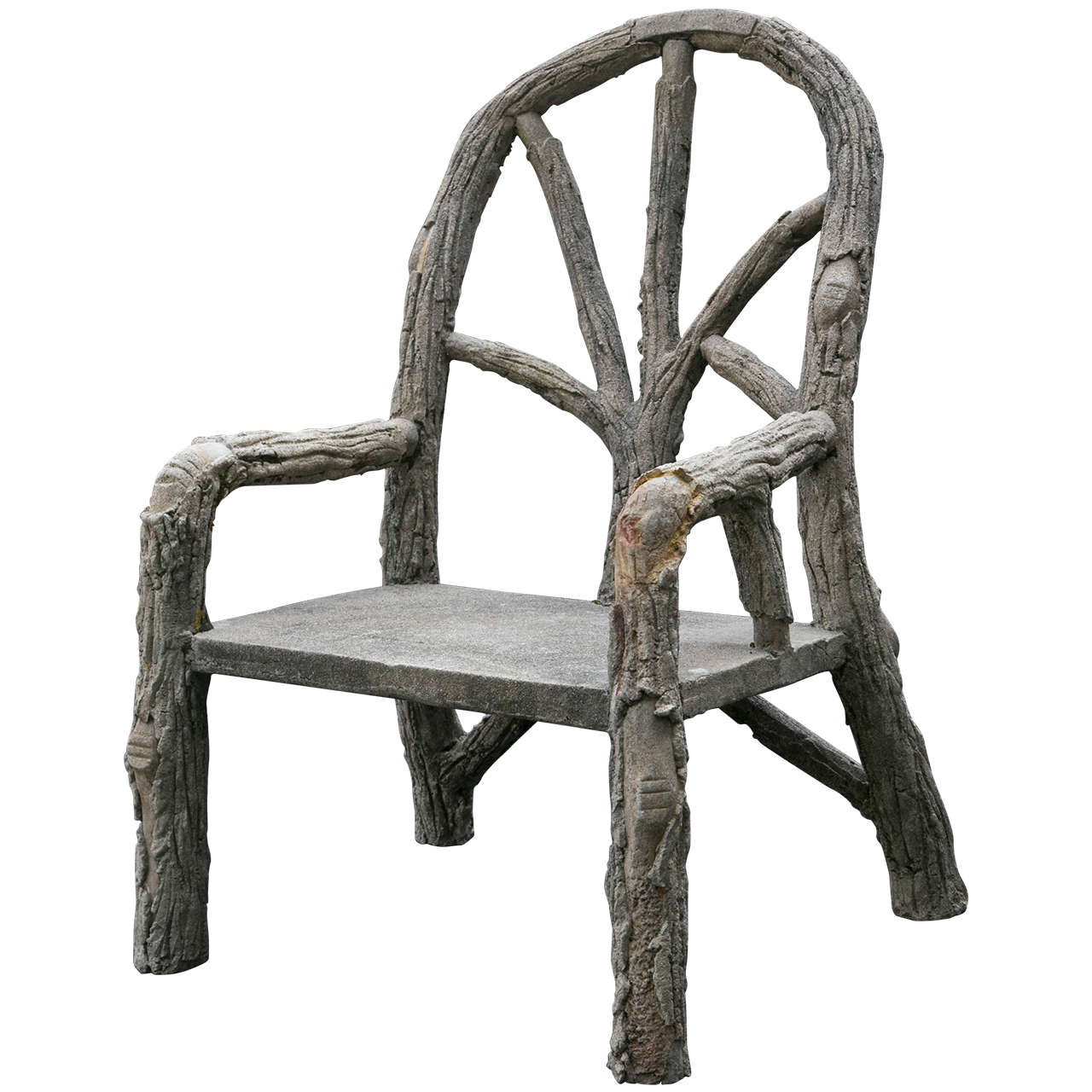 Unique oversized faux bois armchair for sale at 1stdibs for Oversized armchairs for sale