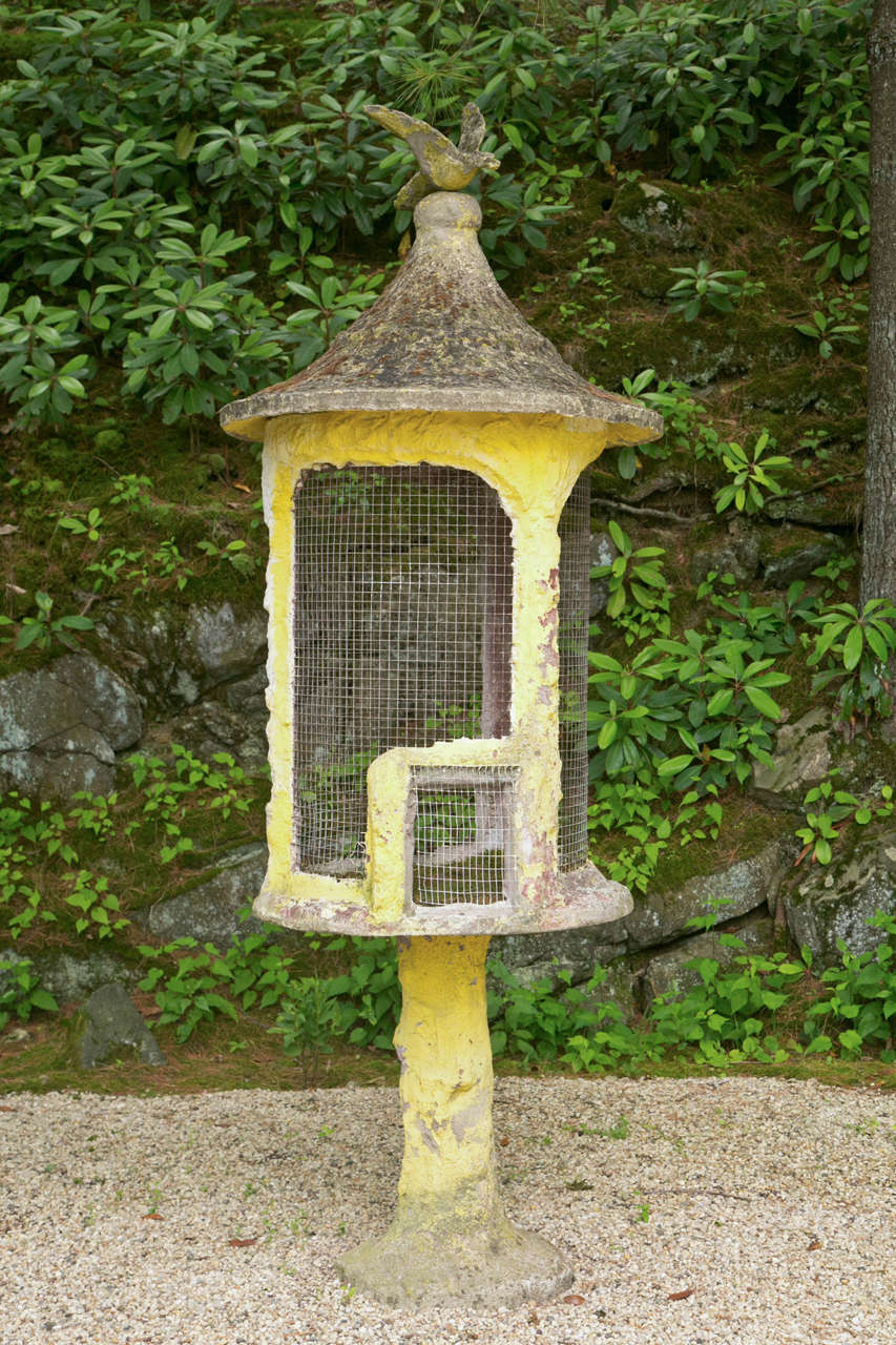 Unique Composition Stone Aviary For Sale At 1stdibs