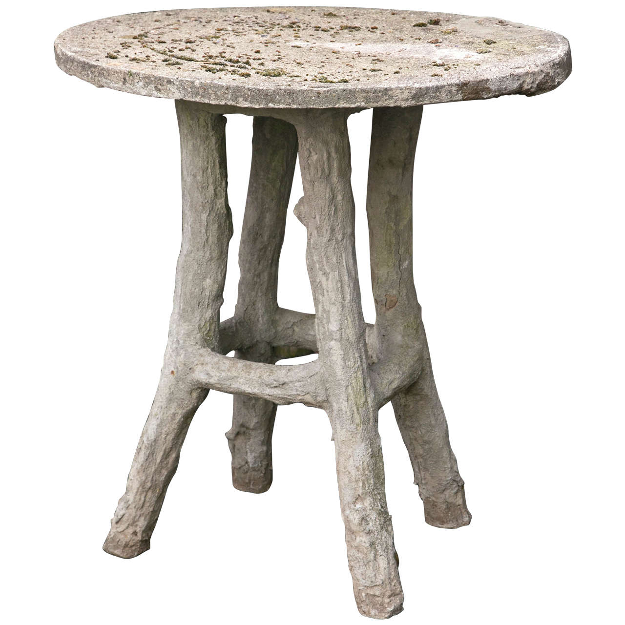 Faux Bois Bistro Table For Sale at 1stdibs