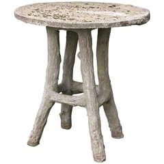 Faux Bois Bistro Table