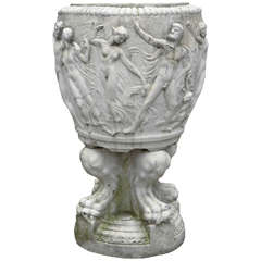 Stamped Galloway Terracotta Garden Urn