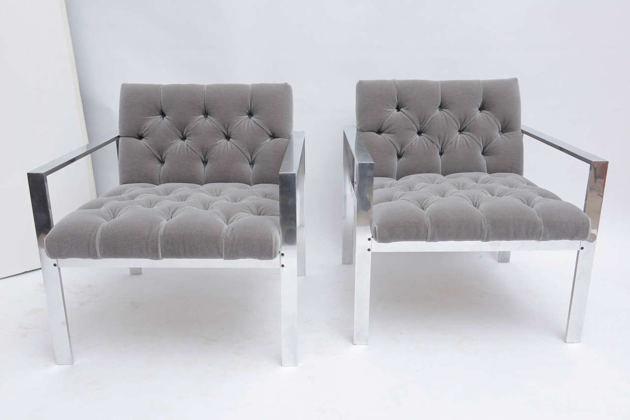 Aluminum Harvey Probber Lounge Chairs For Sale