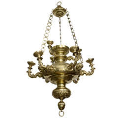 Baroque Style Brass Hanging Fixture