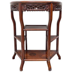 Late 19th Century Chinese Hong Mu Demilune Form Table