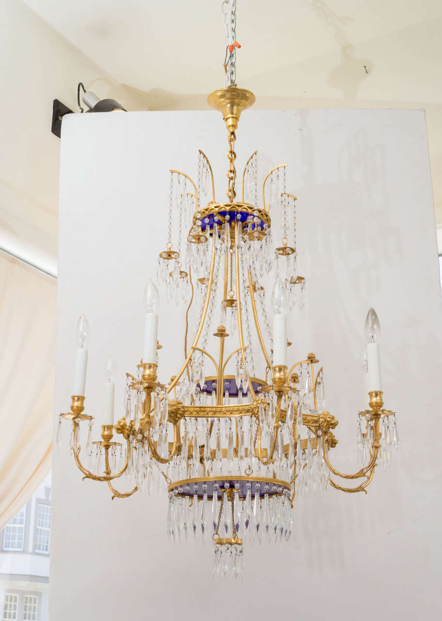 20th Century French Gilt Bronze Chandelier At 1stdibs