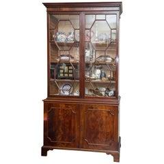 Early 19th Century English George III Figured Mahogany Bookcase