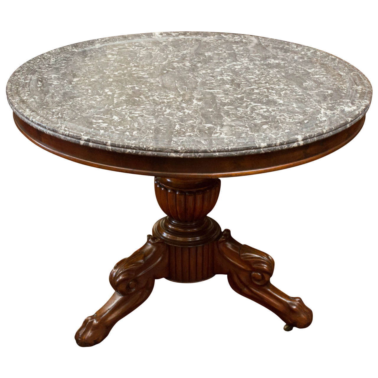 19th century french marble top center table for sale at for Marble table tops for sale