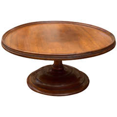 19th Century English Mahogany Pedestal Serving Tray