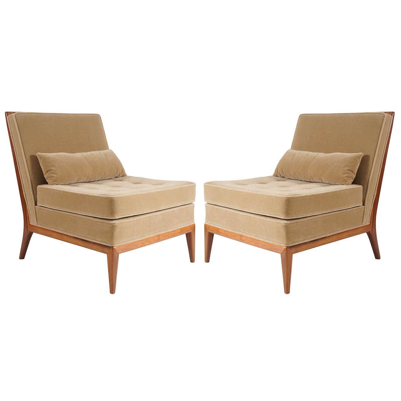Cool Mid Century Modern Pair Of Mccobb Slipper Chairs Theyellowbook Wood Chair Design Ideas Theyellowbookinfo