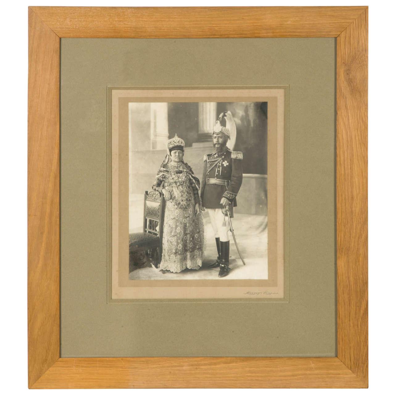 Vintage Photography of a Maharaja by Herzog et Higgins circa 1910-1920