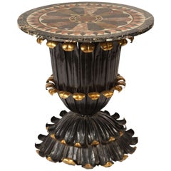 Marble Specimen-Top Table with Gilt and Painted Metal Base